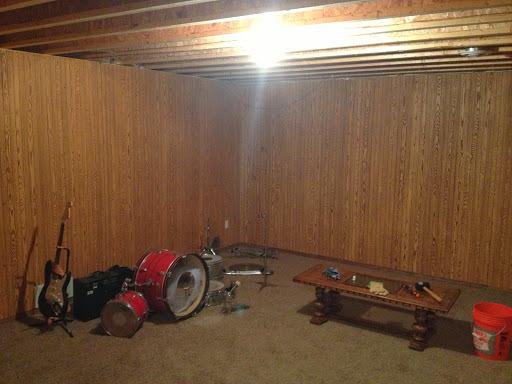 Wood Paneled Basement